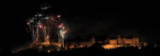 Carcassonne on Bastille Day